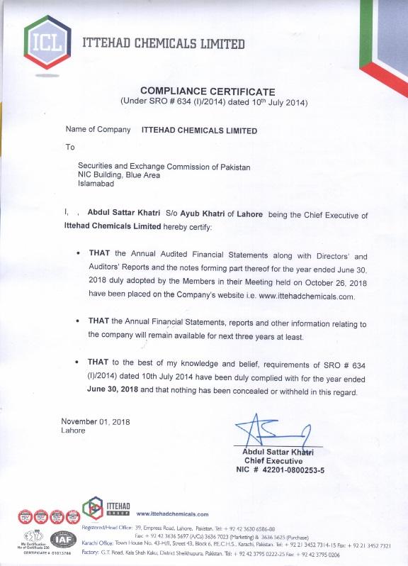 certificate compliance directors board code